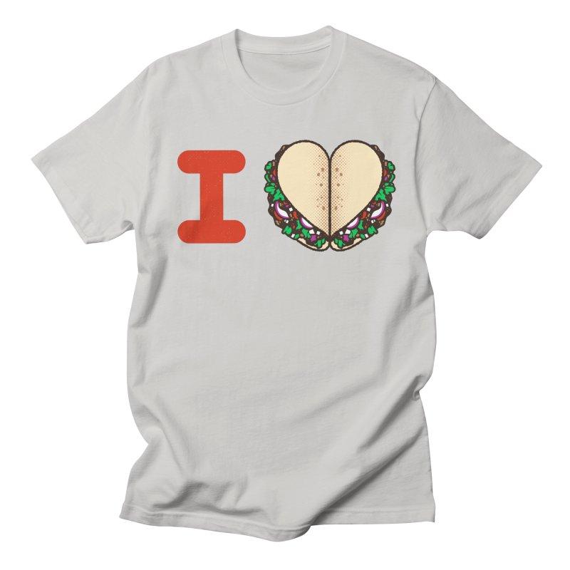 I Heart Tacos Men's Regular T-Shirt by deliciousdesignleague's Artist Shop