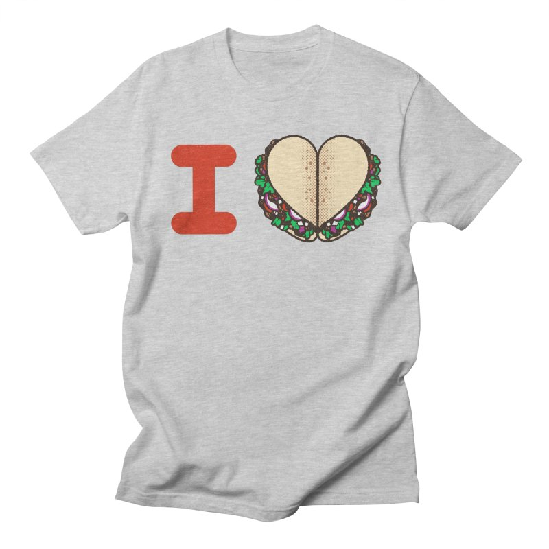 I Heart Tacos Men's T-shirt by deliciousdesignleague's Artist Shop