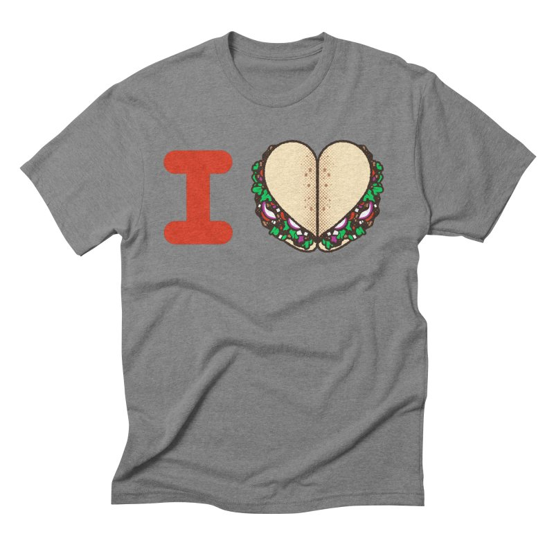 I Heart Tacos Men's Triblend T-Shirt by Delicious Design Studio