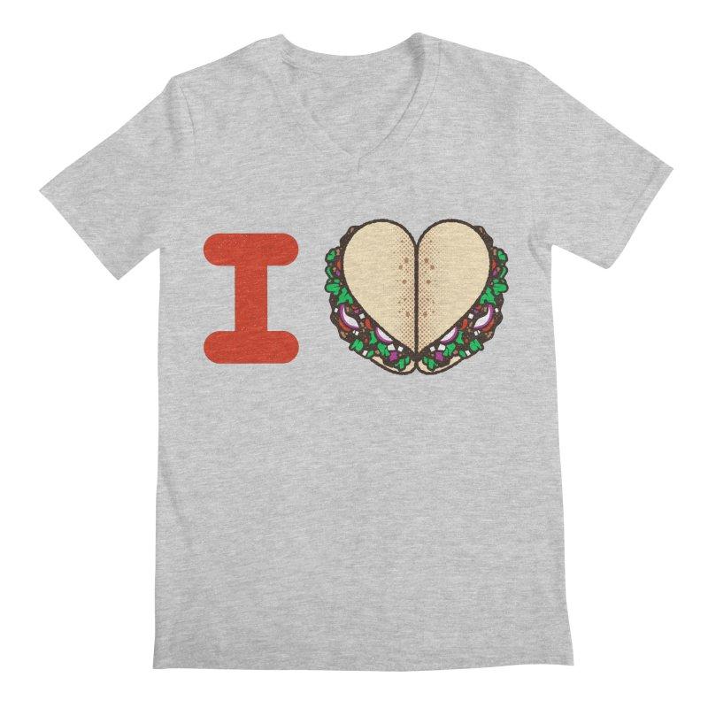 I Heart Tacos Men's V-Neck by deliciousdesignleague's Artist Shop