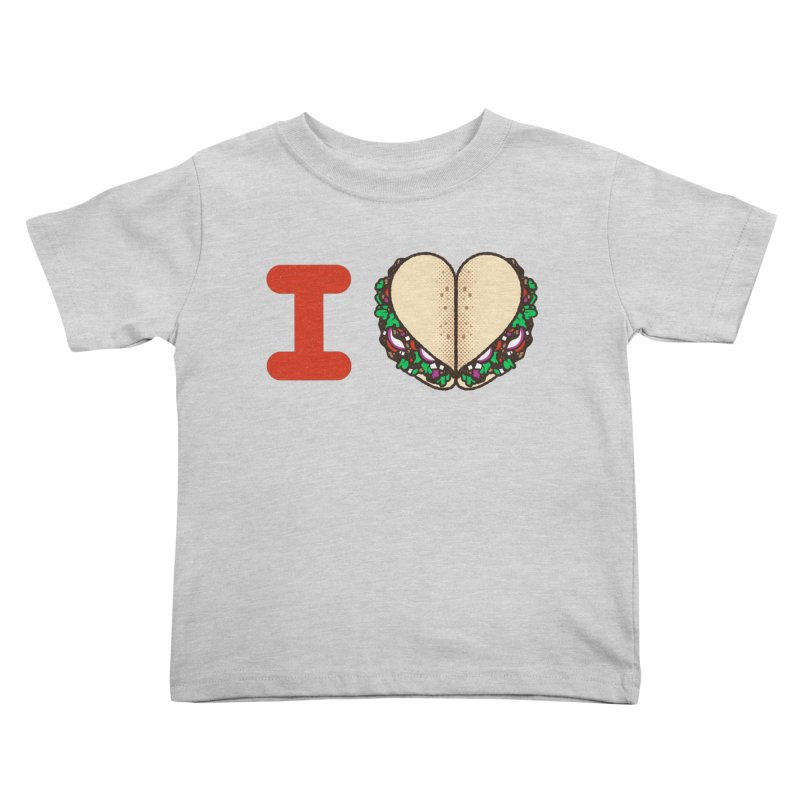 I Heart Tacos Kids Toddler T-Shirt by deliciousdesignleague's Artist Shop