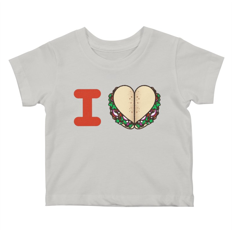 I Heart Tacos Kids Baby T-Shirt by deliciousdesignleague's Artist Shop