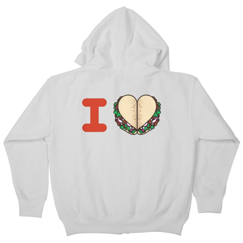 I Heart Tacos Kids Zip-Up Hoody by deliciousdesignleague's Artist Shop