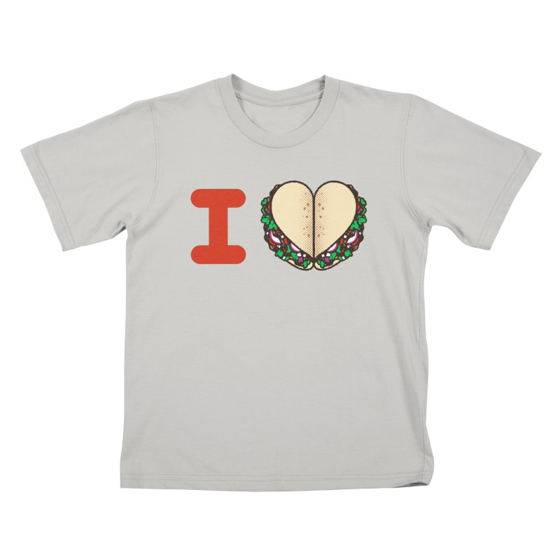 I Heart Tacos Kids T-shirt by deliciousdesignleague's Artist Shop
