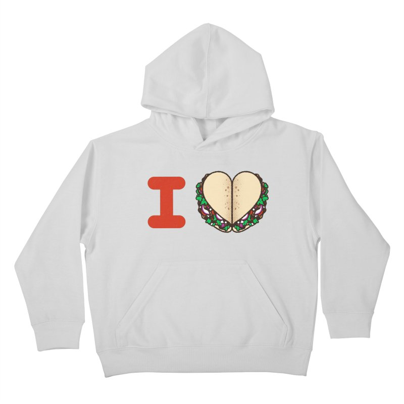 I Heart Tacos Kids Pullover Hoody by deliciousdesignleague's Artist Shop