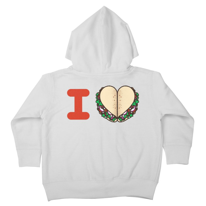 I Heart Tacos Kids Toddler Zip-Up Hoody by deliciousdesignleague's Artist Shop