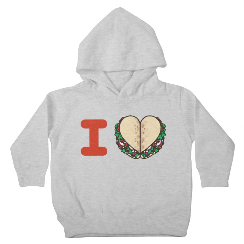 I Heart Tacos Kids Toddler Pullover Hoody by deliciousdesignleague's Artist Shop