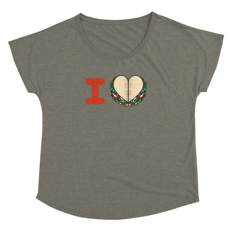 I Heart Tacos Women's Dolman by deliciousdesignleague's Artist Shop