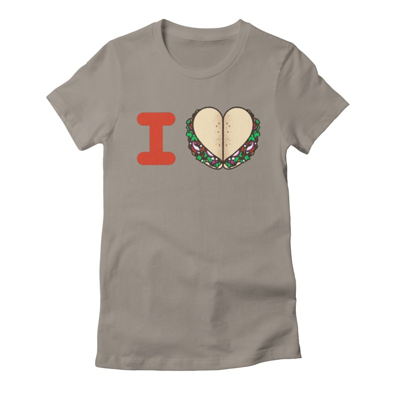 I Heart Tacos Women's Fitted T-Shirt by deliciousdesignleague's Artist Shop