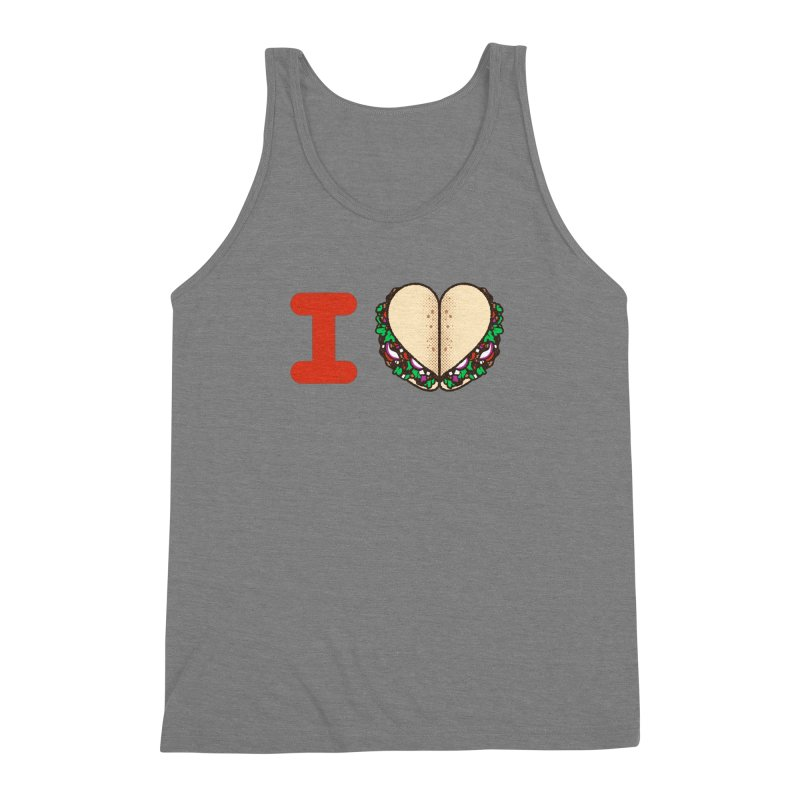 I Heart Tacos Men's Triblend Tank by deliciousdesignleague's Artist Shop