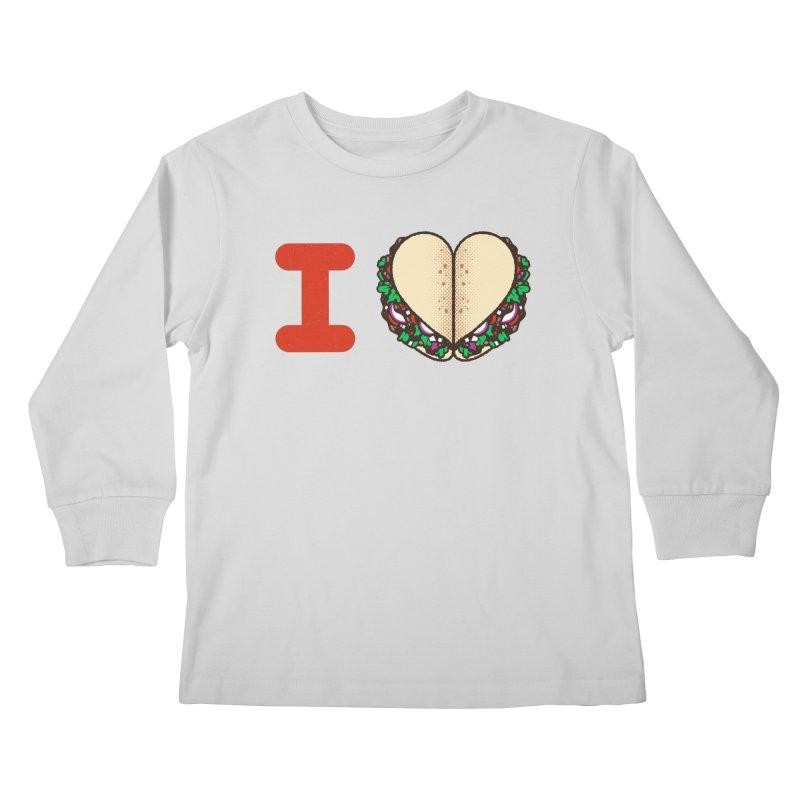 I Heart Tacos Kids Longsleeve T-Shirt by Delicious Design Studio