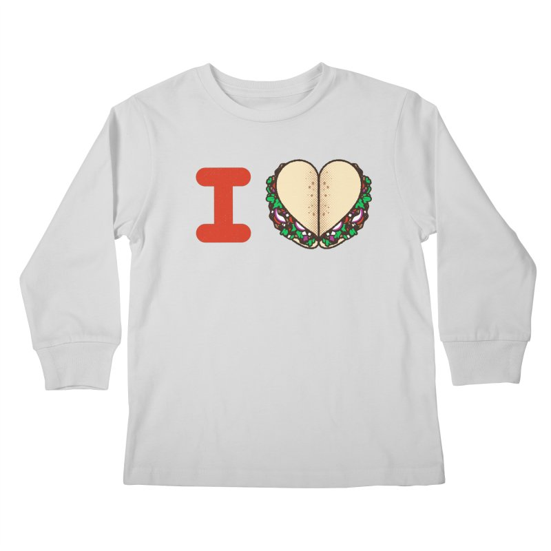 I Heart Tacos Kids Longsleeve T-Shirt by deliciousdesignleague's Artist Shop