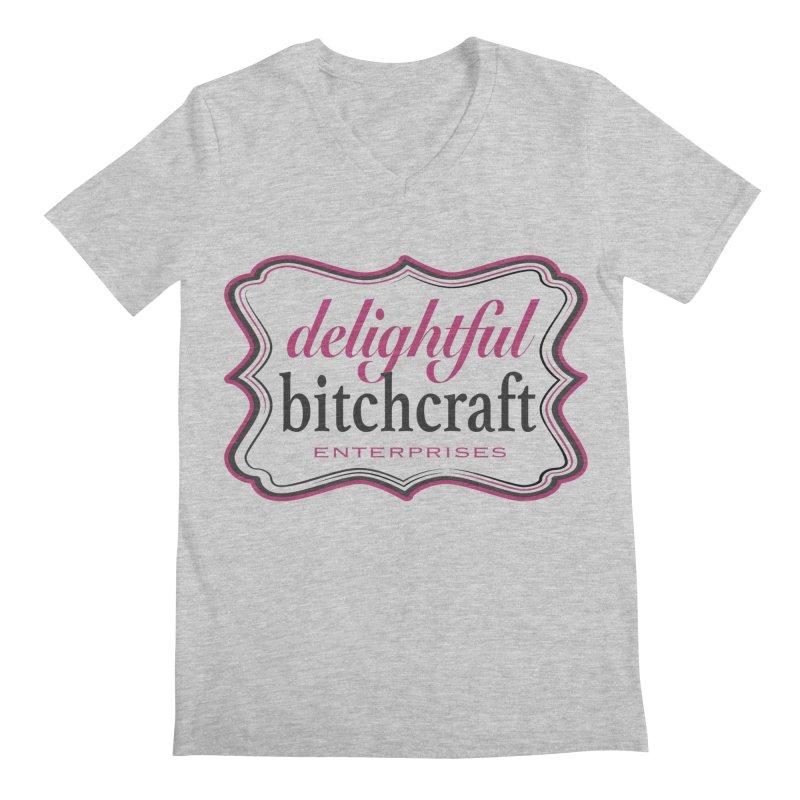 Delightful Bitchcraft Logo Men's V-Neck by Delightful Bitchcraft Merch Marketplace