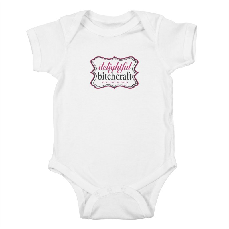 Delightful Bitchcraft Logo Kids Baby Bodysuit by Delightful Bitchcraft Merch Marketplace