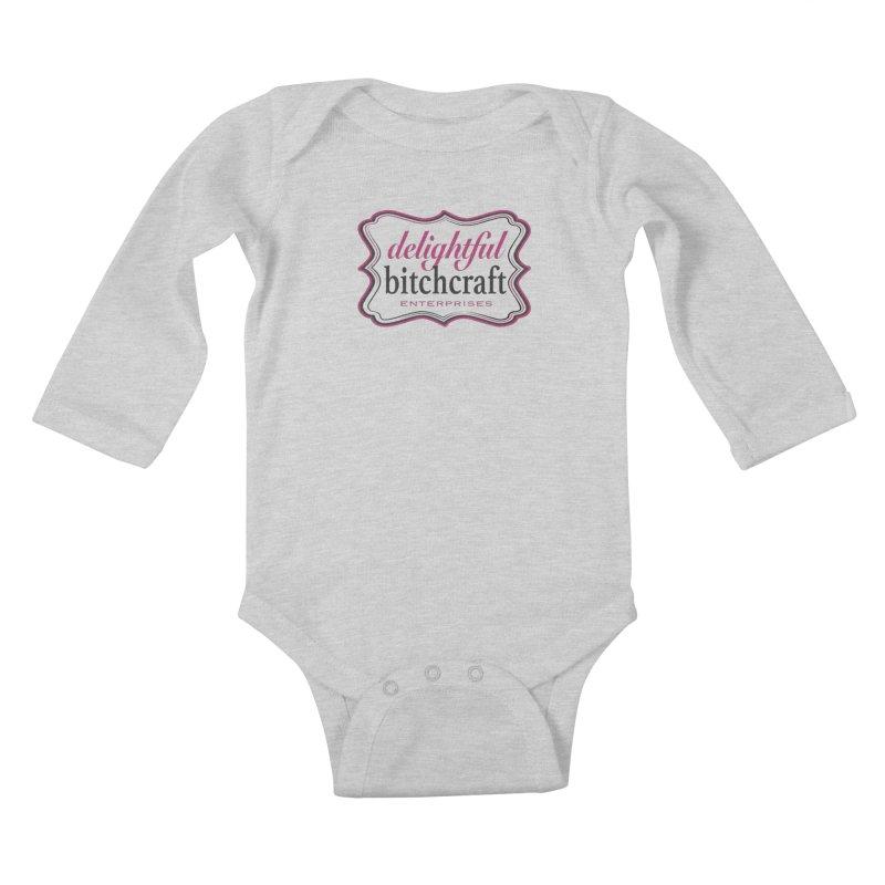 Delightful Bitchcraft Logo Kids Baby Longsleeve Bodysuit by Delightful Bitchcraft Merch Marketplace
