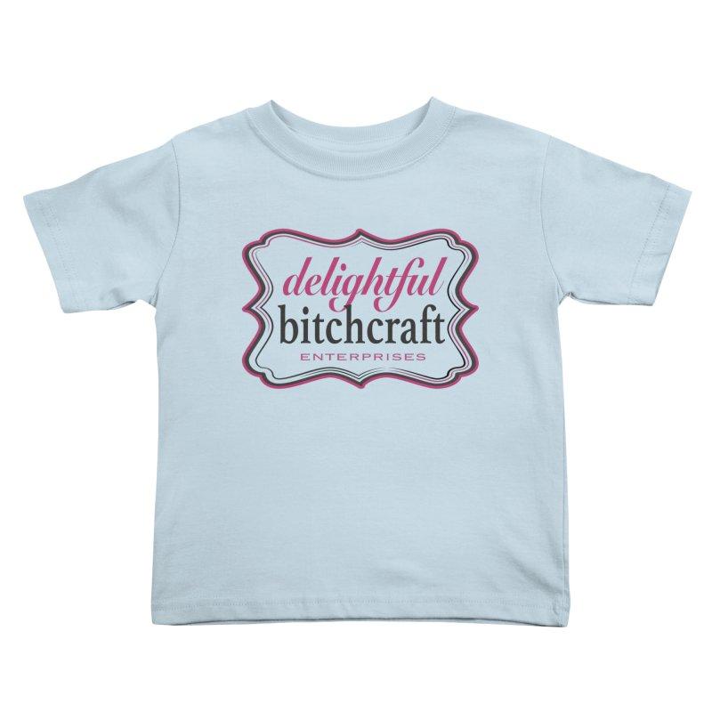 Delightful Bitchcraft Logo Kids Toddler T-Shirt by Delightful Bitchcraft Merch Marketplace