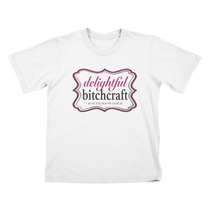 Delightful Bitchcraft Logo Kids T-Shirt by Delightful Bitchcraft Merch Marketplace