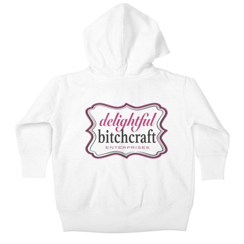 Delightful Bitchcraft Logo Kids Baby Zip-Up Hoody by Delightful Bitchcraft Merch Marketplace