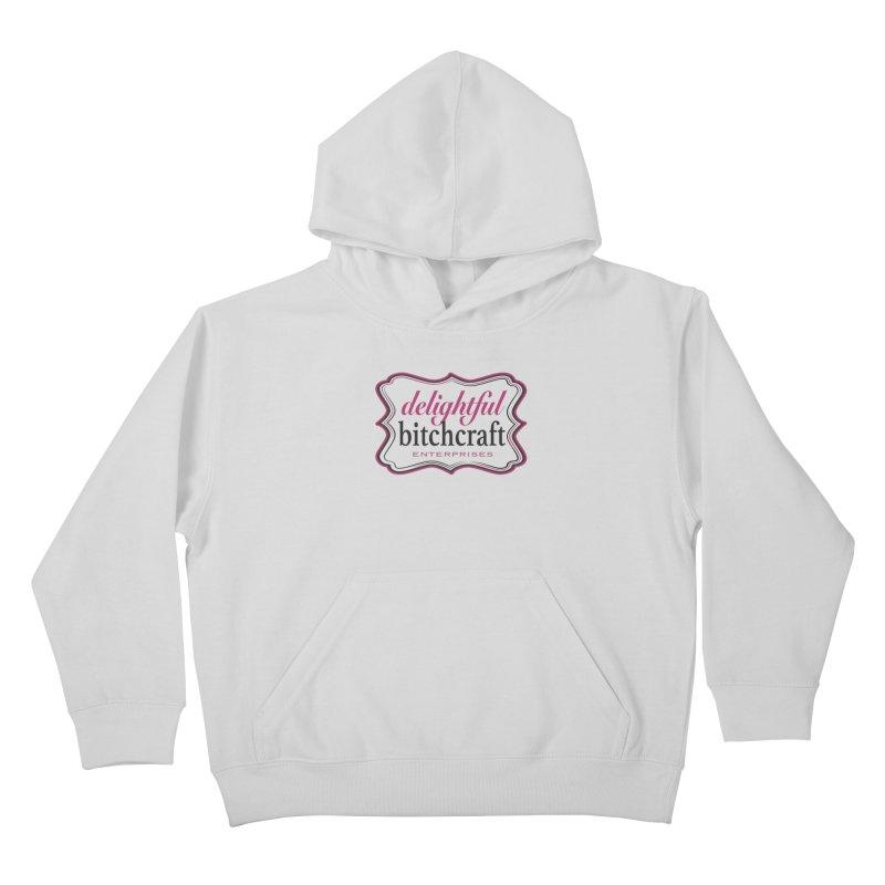 Delightful Bitchcraft Logo Kids Pullover Hoody by Delightful Bitchcraft Merch Marketplace