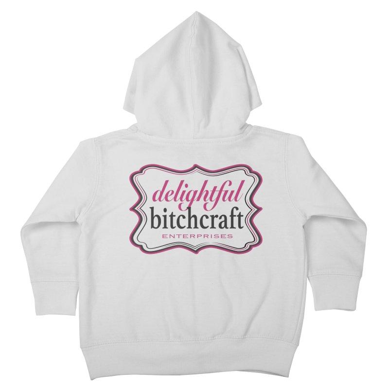 Delightful Bitchcraft Logo Kids Toddler Zip-Up Hoody by Delightful Bitchcraft Merch Marketplace