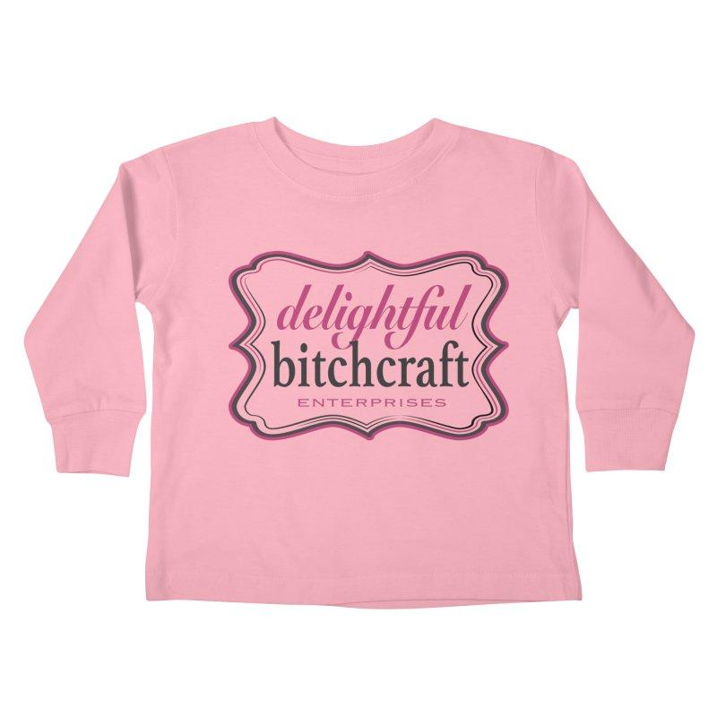 Delightful Bitchcraft Logo Kids Toddler Longsleeve T-Shirt by Delightful Bitchcraft Merch Marketplace