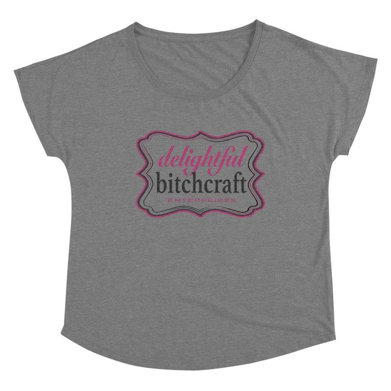 Delightful Bitchcraft Logo Women's Scoop Neck by Delightful Bitchcraft Merch Marketplace