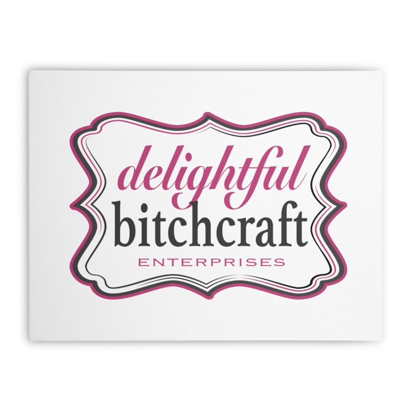 Delightful Bitchcraft Logo Home Stretched Canvas by Delightful Bitchcraft Merch Marketplace