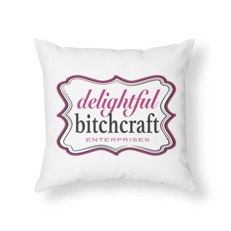 Delightful Bitchcraft Logo Home Throw Pillow by Delightful Bitchcraft Merch Marketplace