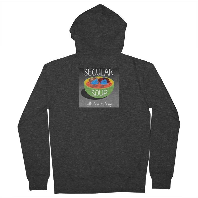 Secular Soup Logo Men's Zip-Up Hoody by Delightful Bitchcraft Merch Marketplace