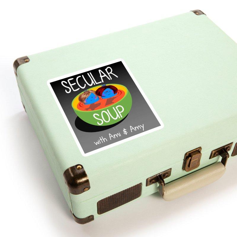 Secular Soup Logo Accessories Sticker by Delightful Bitchcraft Merch Marketplace