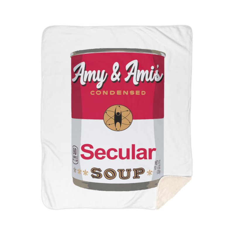 Secular Soup Can Home Blanket by Delightful Bitchcraft Merch Marketplace