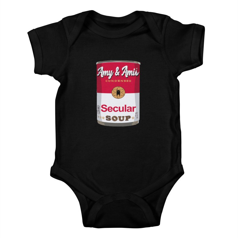 Secular Soup Can Kids Baby Bodysuit by Delightful Bitchcraft Merch Marketplace
