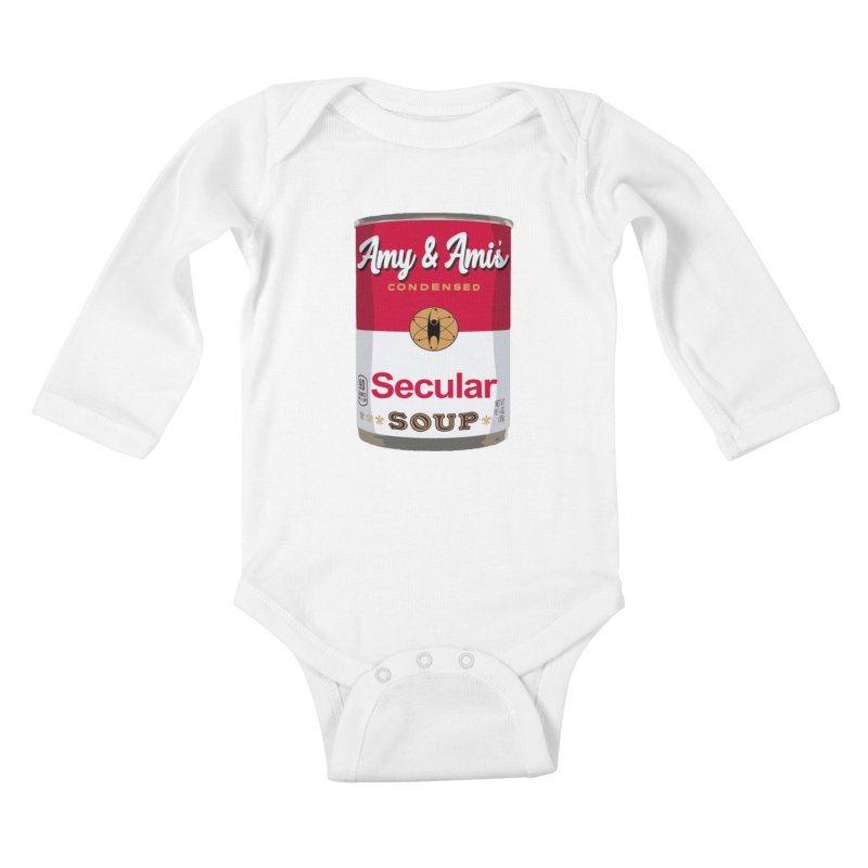 Secular Soup Can Kids Baby Longsleeve Bodysuit by Delightful Bitchcraft Merch Marketplace