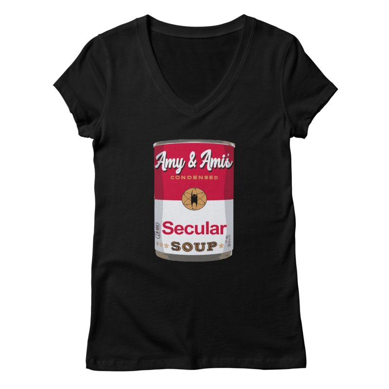 Secular Soup Can Women's V-Neck by Delightful Bitchcraft Merch Marketplace