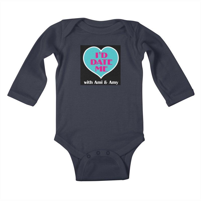 I'd Date Me Logo Kids Baby Longsleeve Bodysuit by Delightful Bitchcraft Merch Marketplace