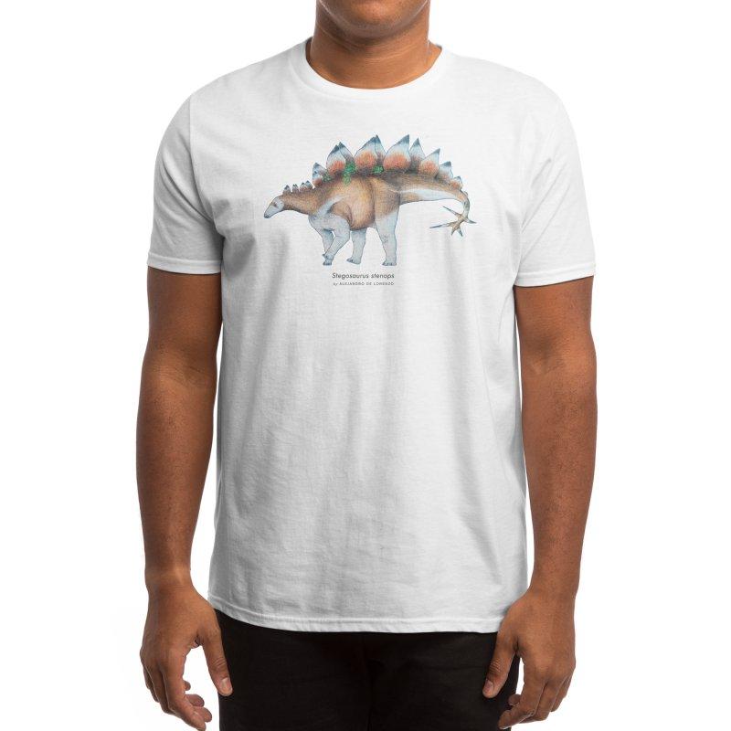 Stegosaurus Men's T-Shirt by Alejandro De Lorenzo Paleoart