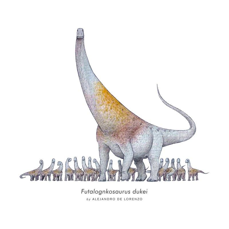 Futalognkosaurus Men's T-Shirt by Alejandro De Lorenzo Paleoart