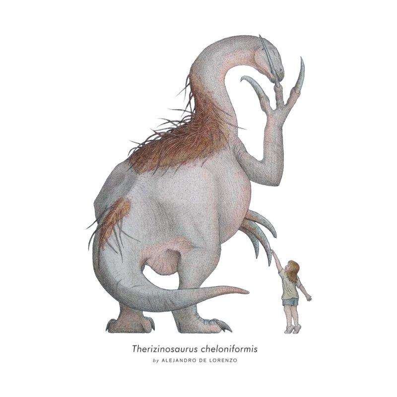 Therizinosaurus Men's T-Shirt by Alejandro De Lorenzo Paleoart