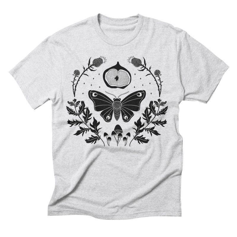 Moth, Mugwort & Mushrooms Men's Triblend T-Shirt by DeluxeWitch