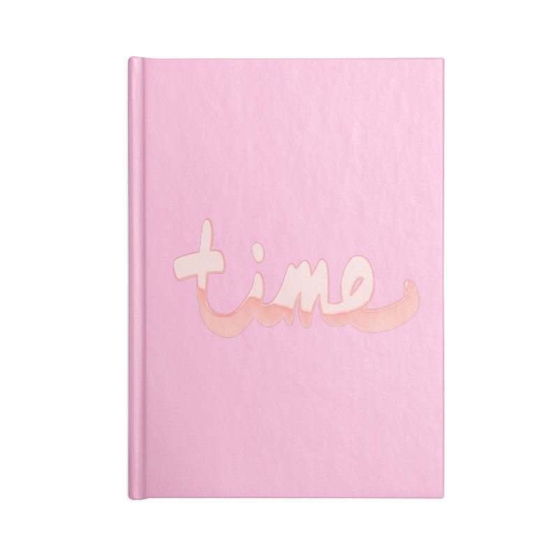 Time is a rose gold illusion Accessories Blank Journal Notebook by Demeter Designs Artist Shop