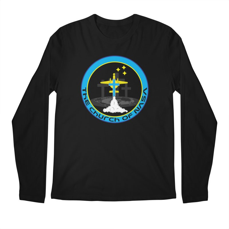 The Church Of NASA Men's Regular Longsleeve T-Shirt by Demeter Designs Artist Shop