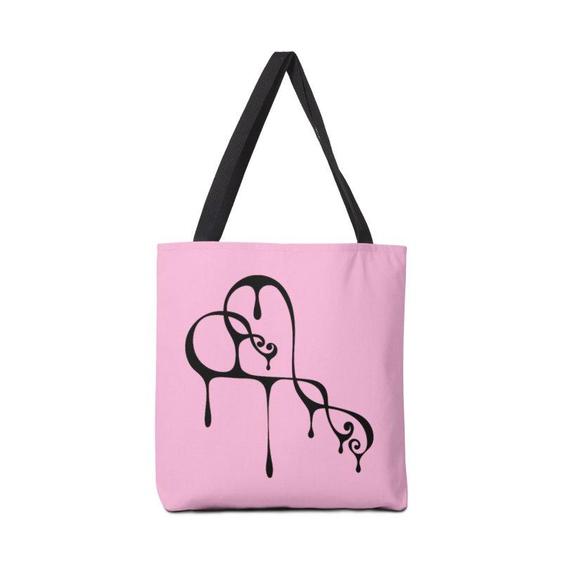 Bleeding Heart (black) Accessories Tote Bag Bag by Demeter Designs Artist Shop