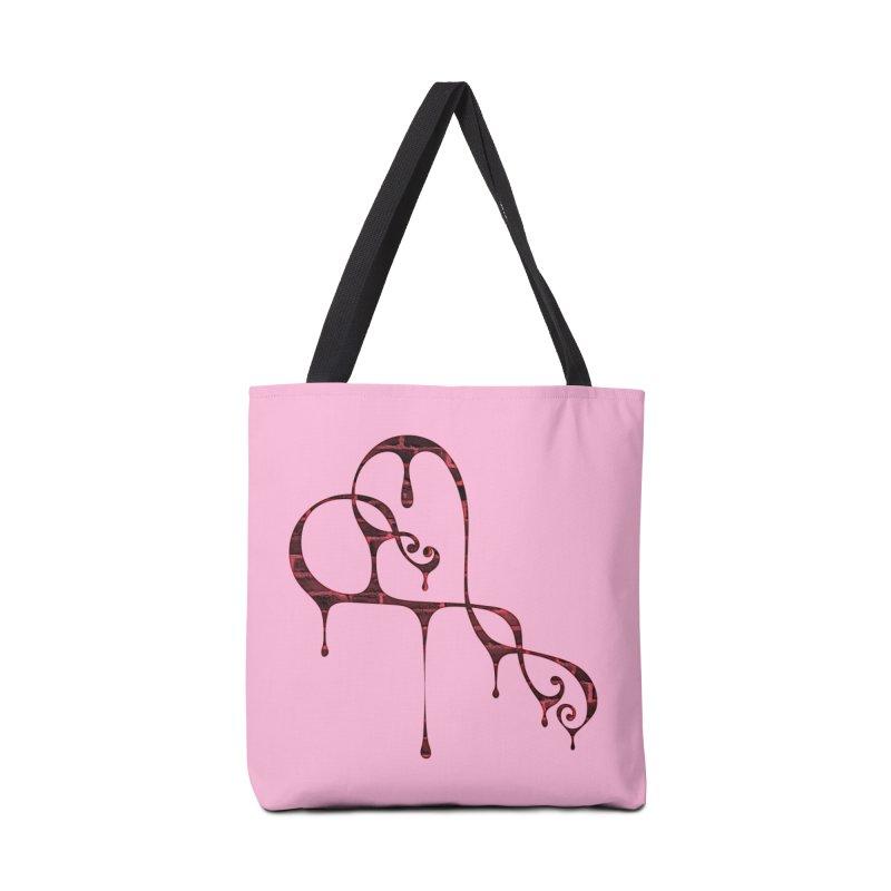 Bleeding Heart (bricks) Accessories Tote Bag Bag by Demeter Designs Artist Shop