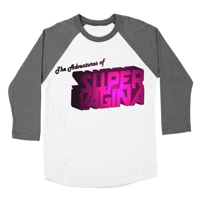 The Adventures of Super Vagina Men's Baseball Triblend Longsleeve T-Shirt by Demeter Designs Artist Shop