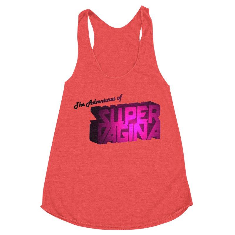 The Adventures of Super Vagina Women's Racerback Triblend Tank by Demeter Designs Artist Shop
