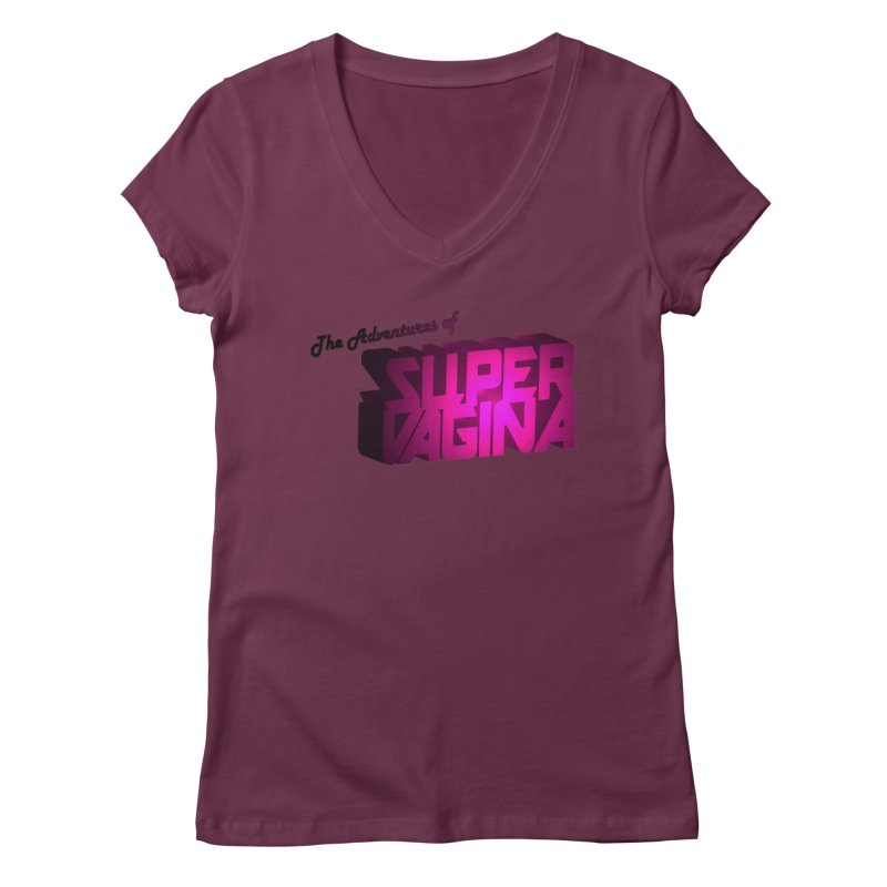 The Adventures of Super Vagina Women's Regular V-Neck by Demeter Designs Artist Shop
