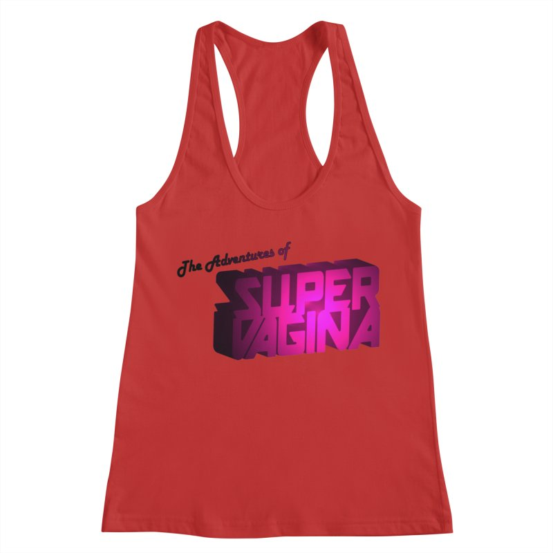 The Adventures of Super Vagina Women's Racerback Tank by Demeter Designs Artist Shop