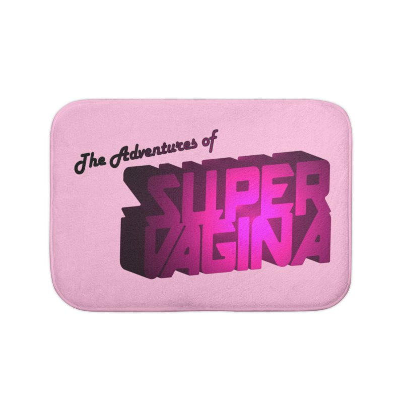 The Adventures of Super Vagina Home Bath Mat by Demeter Designs Artist Shop