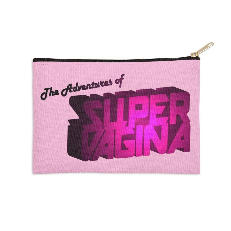 The Adventures of Super Vagina Accessories Zip Pouch by Demeter Designs Artist Shop