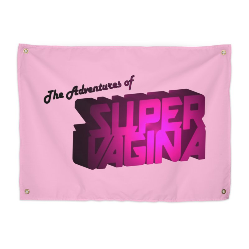 The Adventures of Super Vagina Home Tapestry by Demeter Designs Artist Shop